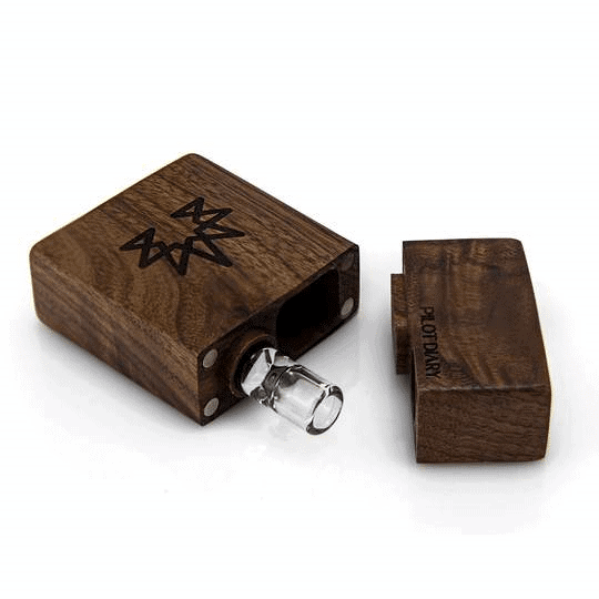 Wood Dugout with Glass One Hitter